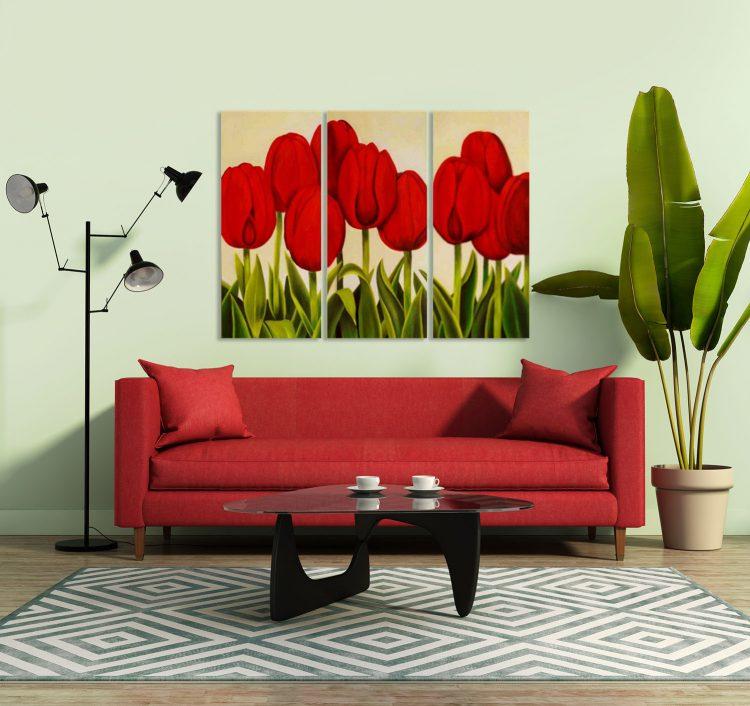 Veldje rode tulpen