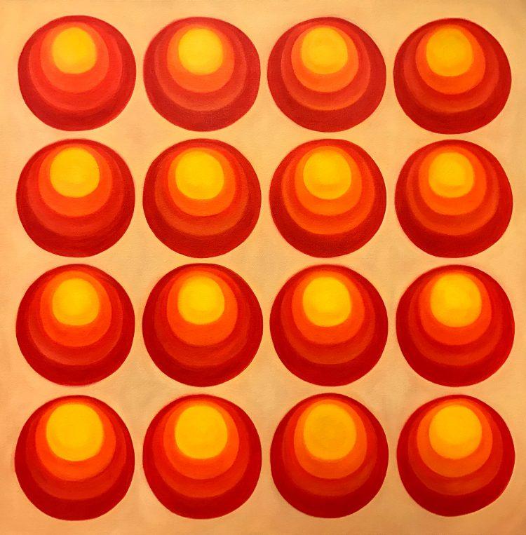 """Schilderij """"16 Cirkels"""""""