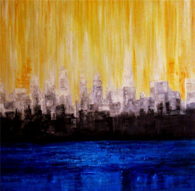 """Schilderij """"Line sky"""""""