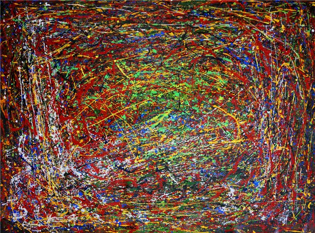 Abstract schilderij colorland