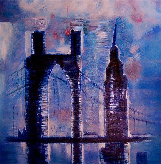 """Schilderij """"De brug"""""""