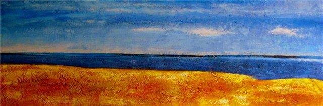 """Schilderij """"Long beach"""""""