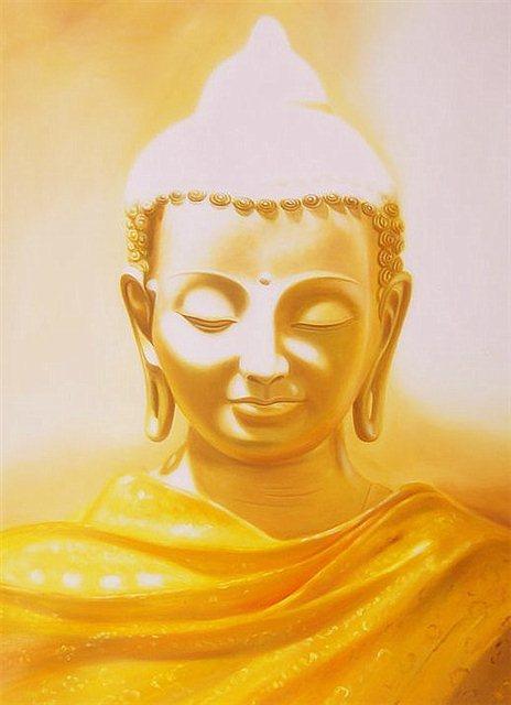 Gele buddha