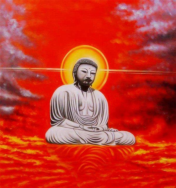 Buddha op wolken