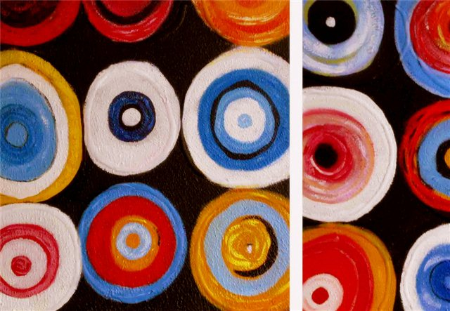 "Schilderij ""Crazy circles"""