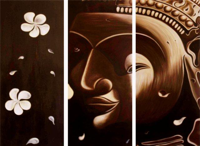 "Schilderij ""Dark buddha"""