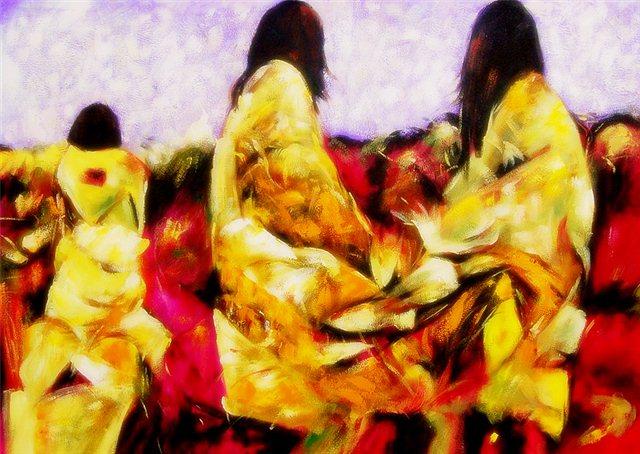 """Schilderij """"Drie vrouwen"""""""