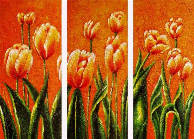"""Schilderij """"Allemaal tulpen"""""""