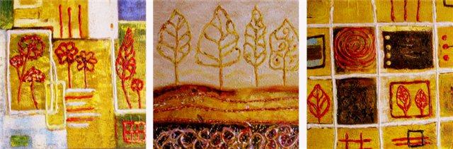 """Schilderij """"Door de bomen"""""""