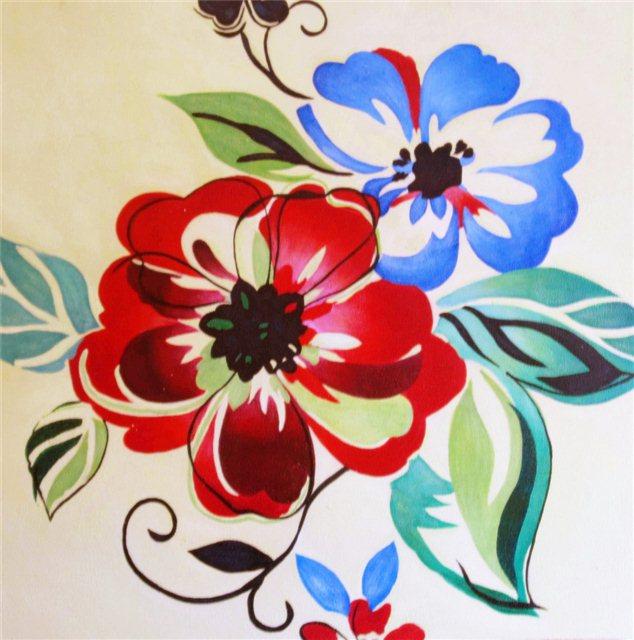 """Schilderij """"Flower power"""""""