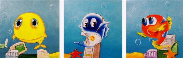 """Schilderij """"Funny ocean"""""""