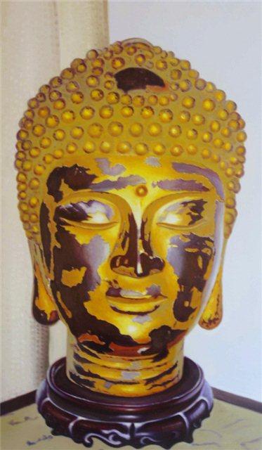 "Schilderij ""Gouden buddha"""