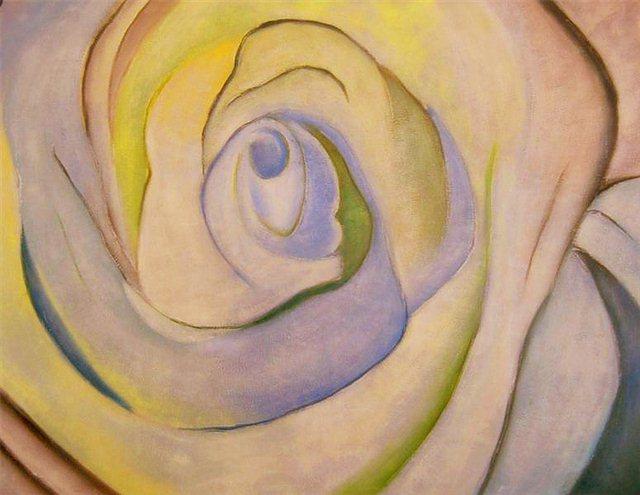 """Schilderij """"Roze roos"""""""