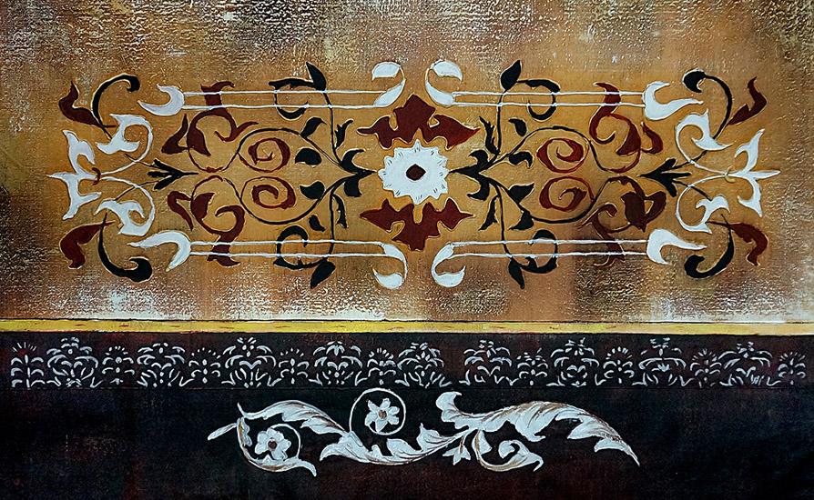 """Abstract schilderij """"Afrikaanse decoratie"""""""