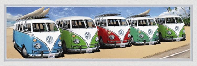 VW Busjes op een rij