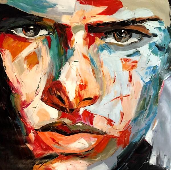 """Schilderij """"Kleurrijke vent"""""""