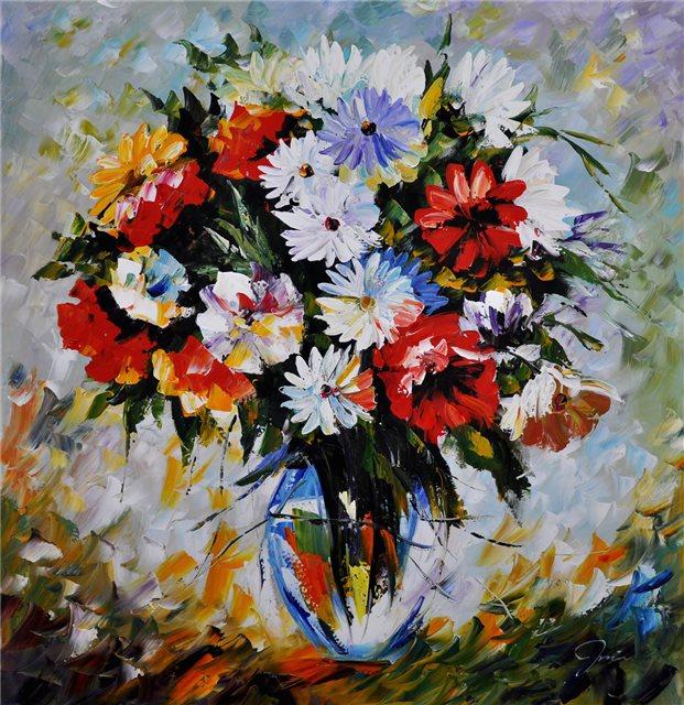 Kleurrijke vaas bloemen
