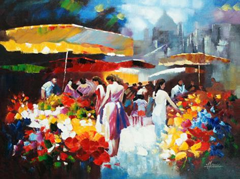 Bloemenmarkt in Parijs