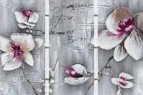 Drieluik orchideeën