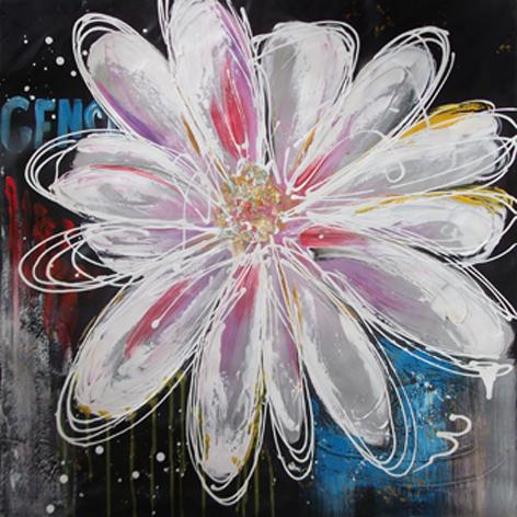 """Schilderij """"Mooie bloem"""""""