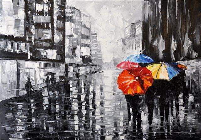 """Schilderij """"Regenachtige dag"""""""