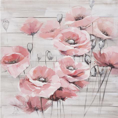 """Schilderij """"Roze klaprozen"""""""