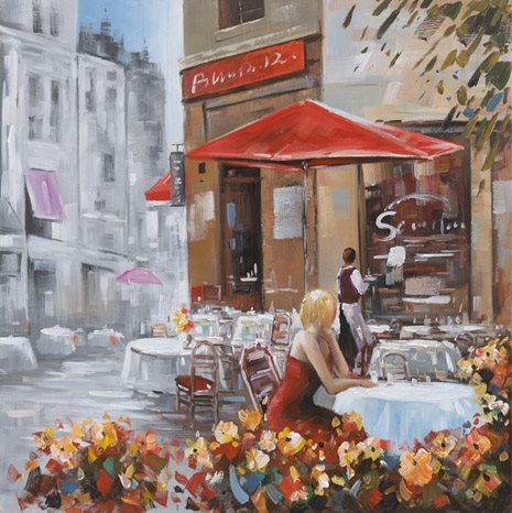 """Schilderij """"Terras in Parijs"""""""