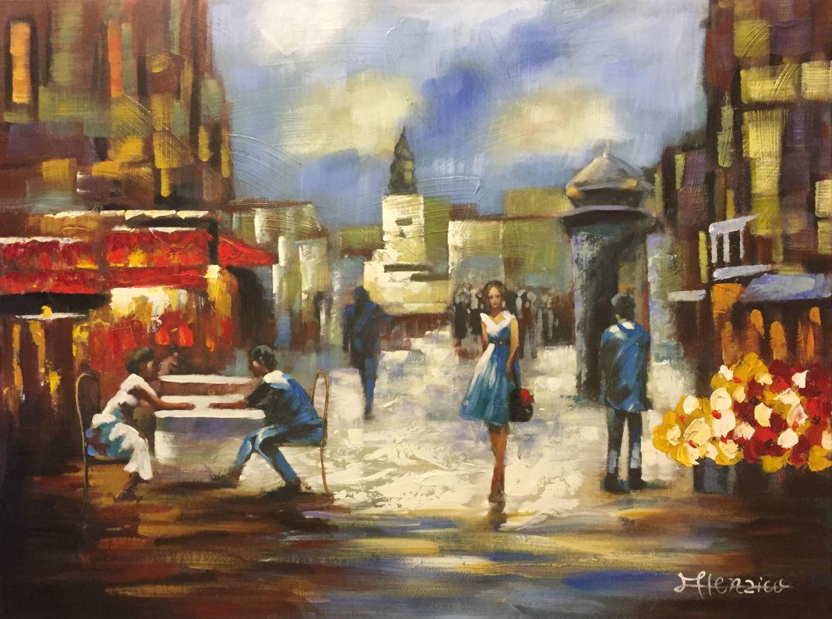 schilderij terras in reims