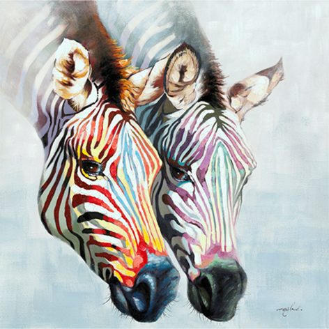 Colorful zebra's