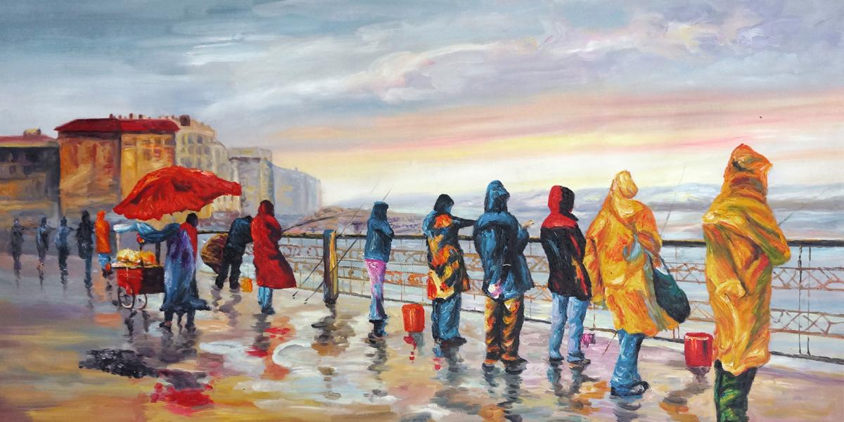 schilderij-vissers op-de-boulevard