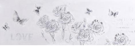 Zilver-witte rozen