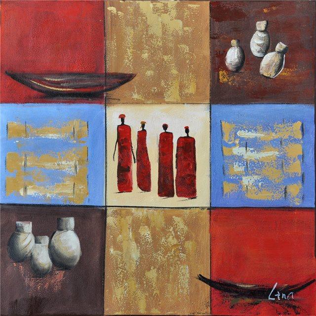 """Schilderij """"African things"""""""