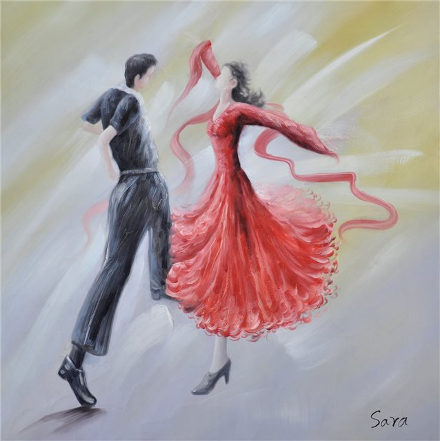 Dansend stel