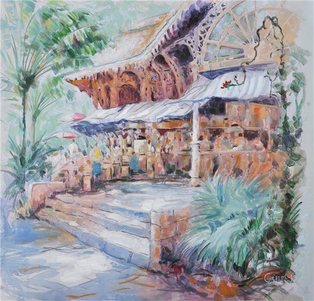 "Schilderij ""Ingang Turkse markt"""