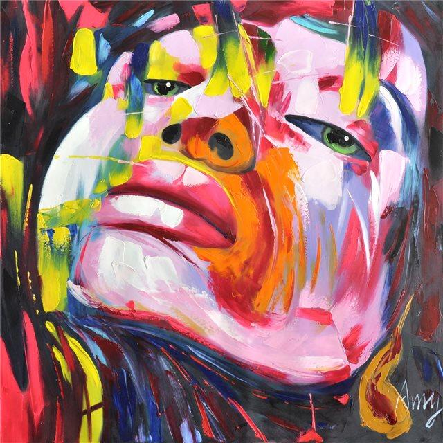"""Schilderij """"Kleurrijk gezicht"""""""