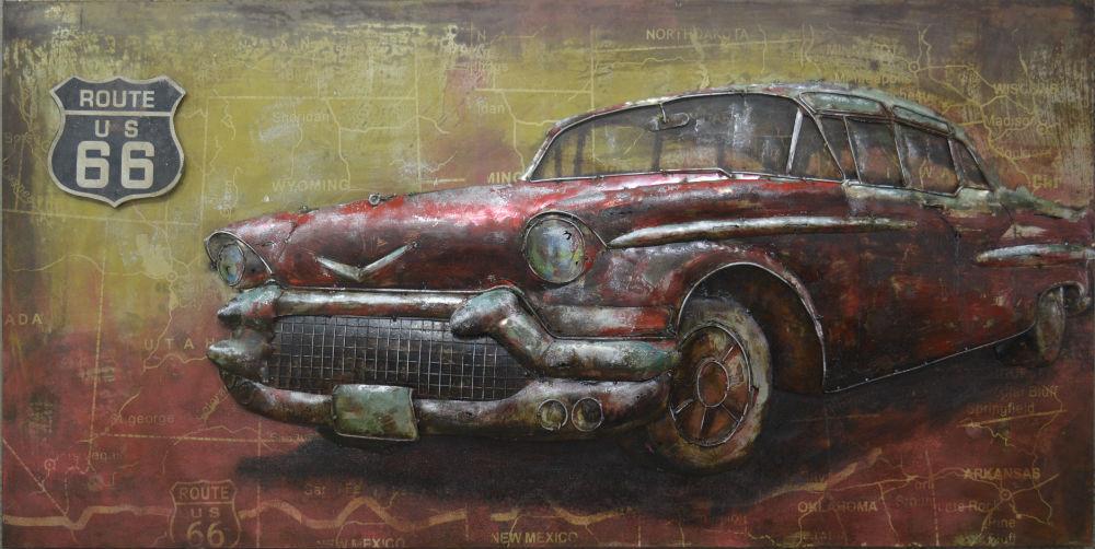 """Metalen schilderij """"Classic Cadillac"""""""