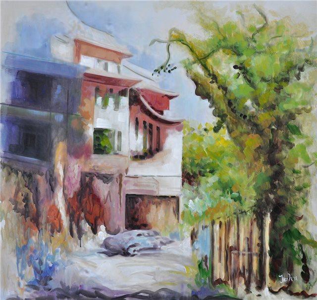 """Schilderij """"Mooie oprijlaan Algarve"""""""