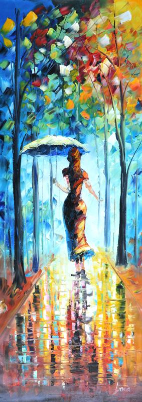 """Schilderij """"Regenachtige zomerdag"""""""