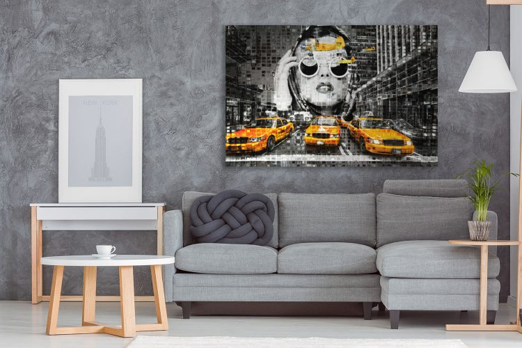 "Aluminium schilderij ""BAS 4Dreams – New York Girl"" van Mondiart"