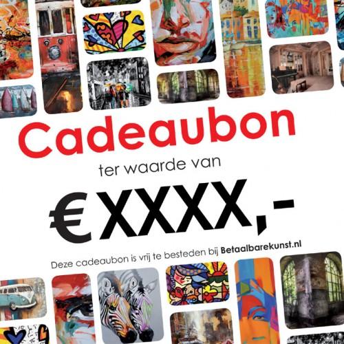 Kunst cadeaubon Betaalbarekunst.nl