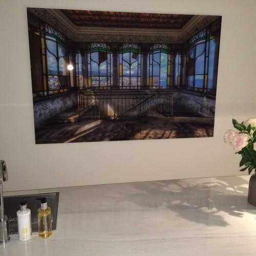 lacour glas in lood kunstwerk in keuken