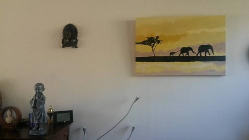 Het schilderij heeft zijn plek bij ons gevonden