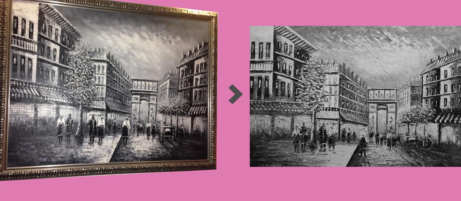 voorbeeld naschildering schilderij oude stad