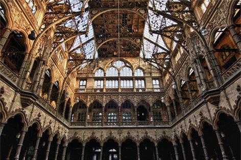 """Aluminium schilderij """"Lacour Plafond handelsbeurs Antwerpen"""" van Mondiart"""
