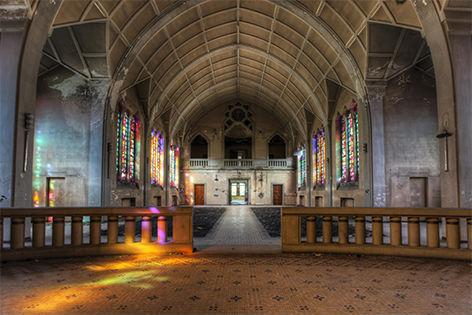 "Aluminium schilderij ""Lacour – Chapel"" van Mondiart"