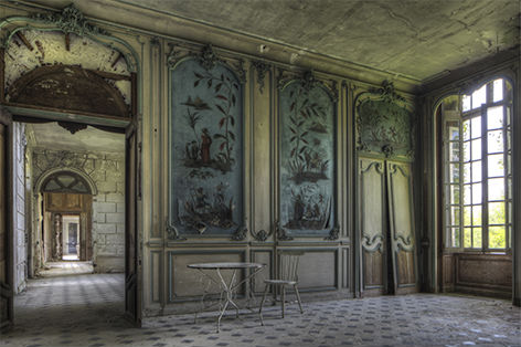 """Aluminium schilderij """"Lacour – Kamer met doorkijk"""" van Mondiart"""