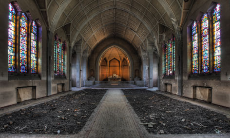 "Aluminium schilderij ""Lacour – The chapel"" van Mondiart"