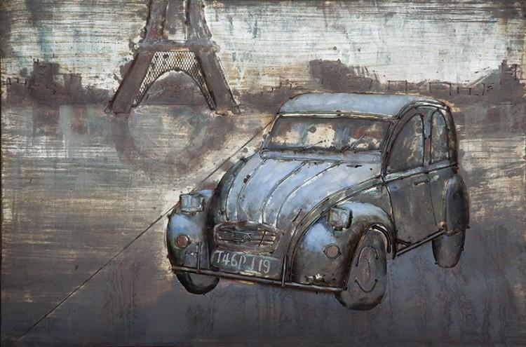 """Metalen schilderij """"Eend in Parijs"""""""