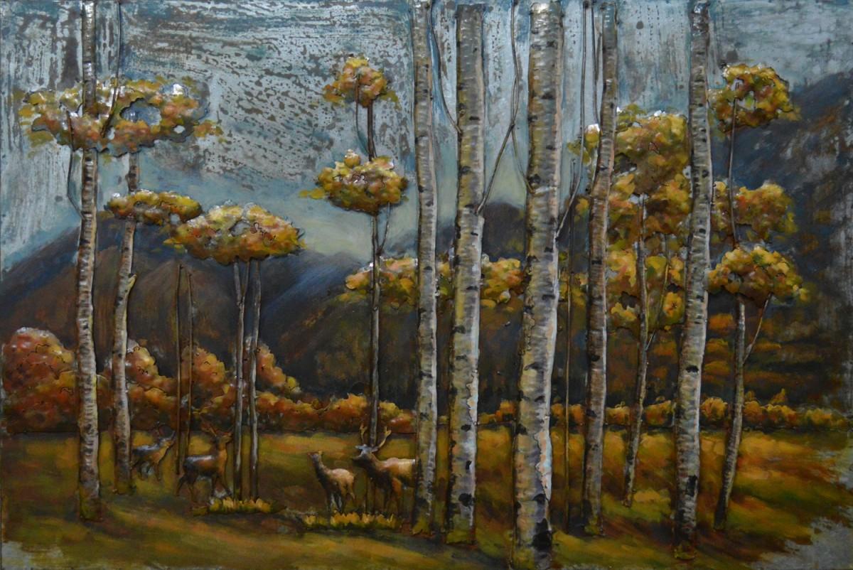 metalen 3dschilderij quotherten in het bosquot te koop