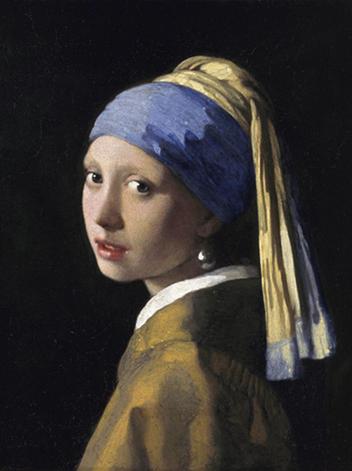 """Aluminium schilderij """"Meisje met de parel"""" van Mondiart"""